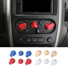 Find More Interior Mouldings Information about New Style Aluminium Air Conditioner Knobs Switch Cover Air Condition Adjusting Button Decoration for Suzuki Jimny,High Quality button favors,China button drop Suppliers, Cheap decoration buttons from Mopai Auto Accessories on Aliexpress.com