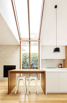 Gable House, Sheri Haby Architects, The Local Project, Australian Architecture and Design Skylight Window, Weatherboard House, Gable House, Roof Architecture, Australian Architecture, Sustainable Architecture, Ancient Architecture, Residential Architecture, Contemporary Architecture