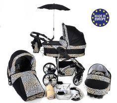 Baby Sportive - Sistema de viaje 3 en 1, silla de paseo, carrito con capazo y silla de coche, RUEDAS GIRATORIAS, parasol y accesorios, color negro, leopardo  #carritosbebeorg http://carritosbebe.org/producto/baby-sportive-sistema-de-viaje-3-en-1-silla-de-paseo-carrito-con-capazo-y-silla-de-coche-ruedas-giratorias-parasol-y-accesorios-color-negro-leopardo/