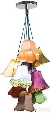 Emily Vintage Saloon Chandelier Pendant Lamp Flowers, 9 Light - 31592