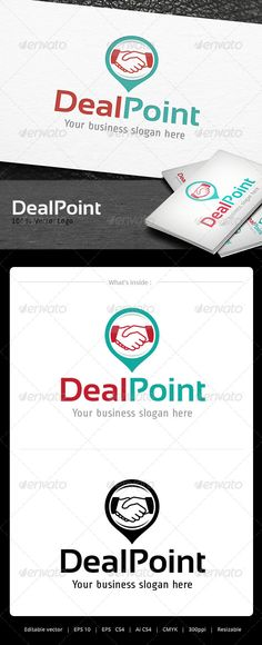 Deal Point Logo — Vector EPS #app #simple • Available here → https://graphicriver.net/item/deal-point-logo/5066931?ref=pxcr