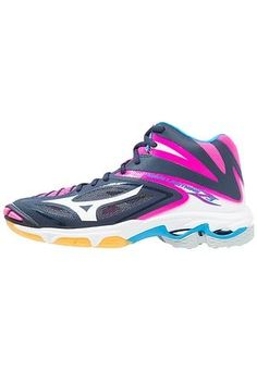 premium selection 465e4 163c5 WAVE LIGHTNING Z3 MID - Zapatillas de voleibol - peacoat white pink glow