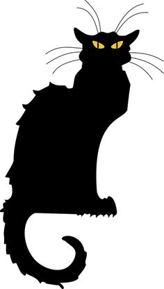 cat silhouettes free | Free Stock Photos | Illustrated Silhouette Of A Black Cat ...