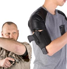 Conceal without a jacket, works under a short-sleeved shirt, rests clear of seats and seat belt allowing quick access. Pistol Holster, Revolver, Holsters, Tactical Equipment, Tactical Gear, Biceps, Sling Backpack, Hand Guns, Swords