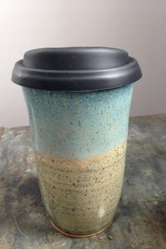 Travel Mug, Mug, Ceramic Travel Mug, Coffee Mug, Tea Mug, Coffee Travel Mug, Handmade by RuthiesPottery by RuthiesPottery on Etsy