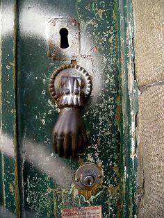 Hand door knocker/knob. lisbon.