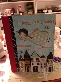 A wonderful Smash Book Cover! #journal #Smash #SmashBook #scrapbook