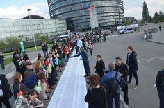Action pour les migrants noyés au Parlement européen