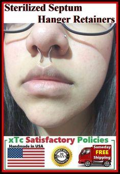 Bio-Plast PTFE Opal Nose Stud Bone Pin Wire Flexible Retainer Cartilage Tragus