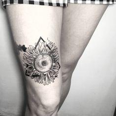 sunflower by Cansın Konuralp  #blacktattooart #blxckink #btattooing #blacktattooing #blackworkers #blackworkerssubmission #darkartists #dotwork #dots #iblackwork #inkstinctsubmission #tattoo #ink #design  #artwork #tattooer #cansinkonuralp #linework #inkjunkeyz #onlyblackart  #blackartist