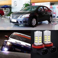42.74$  Watch now - http://ali1af.shopchina.info/1/go.php?t=32808861665 - 2pcs 72 SMD Daytime Running Light Bulbs LED Fog Lamp For Nissan Sylphy 2012 2013  #buymethat