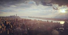 New York City moments after a storm  [3702x1937]