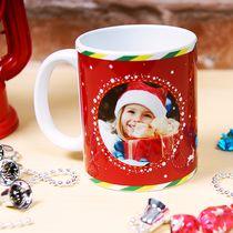 [歡慶耶誕]聖誕馬克杯-雪夜馴鹿(紅)