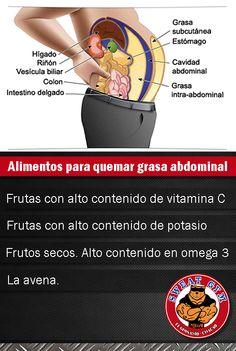 Alimentación: Alimentos que Ayudan a Quemar Grasa Abdominal Rápidamente
