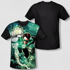 Green Lantern Galactic Hal Energy Ring All Over Front Sublimation T-shirt Top Mens Sizes: S, M, L, XL, 2XL, 3XL