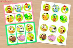 """Развивающие настольные игры для детей скачать бесплатно, игра лото """"В мире животных"""" для детей 2,3,4,5,6,7 лет"""