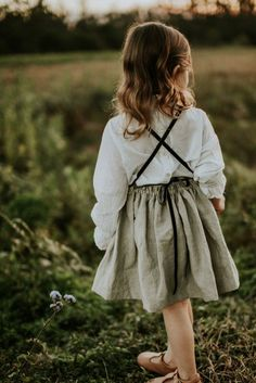Handmade Linen Dress | moonroomkids on Etsy