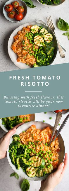 This fresh tomato risotto is super easy and bursting with fresh flavours!