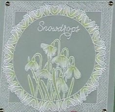 Groovi Baby flowers set: snowdrops Hobbies And Crafts, Crafts To Make, Parchment Cards, Art Nouveau, Barbara Gray, Decorative Plates, Projects To Try, Card Making, Greeting Cards