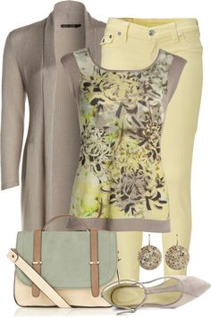 "The blouse could be less busy but the colors and other items are fabulous! ""Untitled #505"" by yasminasdream on Polyvore"