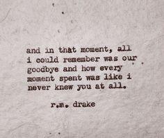 R.m drake #words