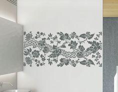 vinilo con una composición floral para la decoración de paredes