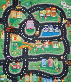 Best of play rug for cars Photographs, ideas play rug for cars and car road rug road rug for toy cars nursery rugs bedroom car play toys r us 32 play rug for toy cars Car Nursery, Nursery Rugs, Map Quilt, Paw Patrol Toys, Maps For Kids, Yellow Rug, Handmade Home, Toys For Boys, Xmas Gifts