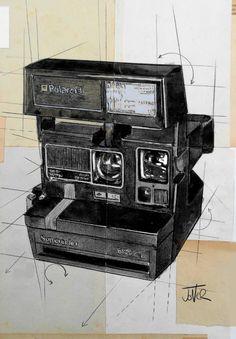 "Saatchi Art Artist LOUI JOVER; Drawing, ""polaroid super color"" #art"