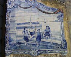 Aveiro - Painel de azulejos da escadaria do Jardim e Parque Infante D. Pedro