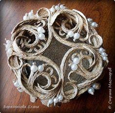 Всем привет)))Проба пера в виде ажурного кругляша с бусинами. фото 2