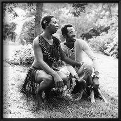 Nina Simone and brother, Sam Waymon, 1971 Photo By G. Nina Simone, American Singers, American History, American Women, Mom Daughter Photography, Black Like Me, Vintage Black Glamour, Jazz Artists, People Of The World
