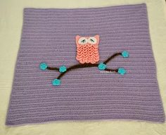 Free Crochet Pattern for an Easy Baby Blanket With Optional Owl Applique