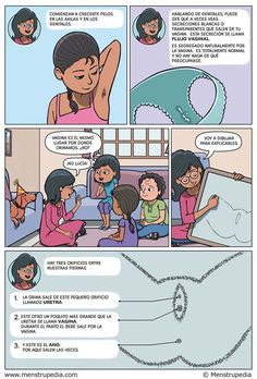 Menstrupedia comic in Spanish!