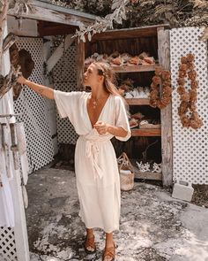 • POSTCARDS FROM THE BAHAMAS • ☼ @olivecooke exploring the islands in her MELODY MAXI DRESS   In Buttercream