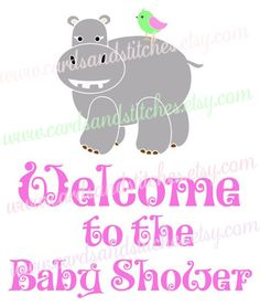 Baby SVG - Baby Shower SVG - Baby Hippo SVG - Digital Cut File - Graphic Design - Cricut Cut - Instant Download - Svg, Dxf, Jpg, Eps, Png by cardsandstitches on Etsy