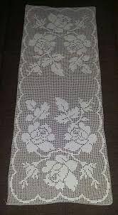 Super Radovi By Marijanka 27 Crochet Table Runner, Crochet Tablecloth, Crochet Doilies, Crochet Flowers, Crochet Home, Hand Crochet, Knit Crochet, Filet Crochet Charts, Fillet Crochet