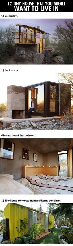 Cool Houses That You Might Want to Live in | Tiny Homes (images only)