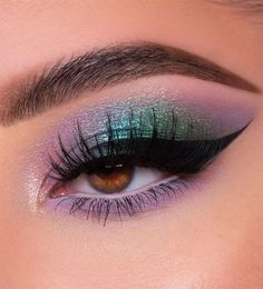 Cute Makeup Looks, Makeup Eye Looks, Beautiful Eye Makeup, Eye Makeup Art, Eyeshadow Makeup, Eyeshadow Palette, Mac Makeup, Eyeliner, Glitter Eyeshadow