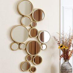 Loving this Silver & Gold Deena Wall Mirror on Mirror Decor Living Room, Oversized Wall Mirrors, Home Entrance Decor, Sofa Set Designs, Diy Mirror, Diy Wall Art, Home Decor Furniture, Home Decor Outlet, Wall Design