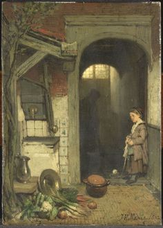 Achterplaatsje.  Jacob Maris, 1862