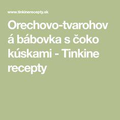 Orechovo-tvarohová bábovka s čoko kúskami - Tinkine recepty Fit