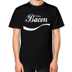 enjoy bacon Unisex T-Shirt (on man)  #nfl #anime #comic #nerd #comiccon #instagood #d4stor3pty #nba