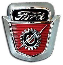 New Hood Emblem 1953 1954 1955 1956 Ford Pickup Truck … 1954 Ford Truck, 1956 Ford Pickup, 1953 Ford F100, Ford Pickup Trucks, New Trucks, Ford Emblem, Car Hood Ornaments, Ford Lincoln Mercury, Old Fords