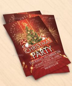 Christmas Party Flyer Template PSD #design #xmas Download: http://graphicriver.net/item/christmas-party-flyer/13498084?ref=ksioks
