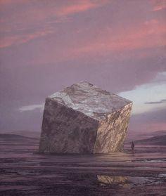 """Mi piace"": 606, commenti: 9 - Tim Cahn (@glabool) su Instagram: ""11.20.2017 #cinema4d #octane #photoshop #art #digital #digitalart #landscape #sky #sunset #pink #3d…"""