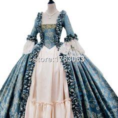 Entièrement corsetée Rococo Colonial géorgienne 18thc Marie Antoinette jour tribunal robe robe dans Robes de Accessoires et vêtements pour femmes sur AliExpress.com | Alibaba Group