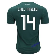 2e27ae904 Chicharito 14 2018 FIFA World Cup Mexico Home Soccer Jersey Mexico Soccer  Jersey