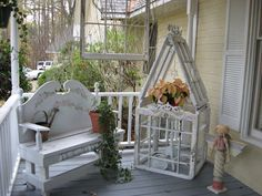 DIY Craft Projects using China Plates Dishes - Trash to Treasure - Architectural Salvage....LOVE this miniature greenhouse.  Now I need the time to make it!