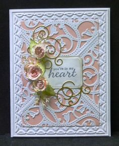 *IC422 Roses, Scrolls & Lace by hobbydujour - Cards and Paper Crafts at Splitcoaststampers
