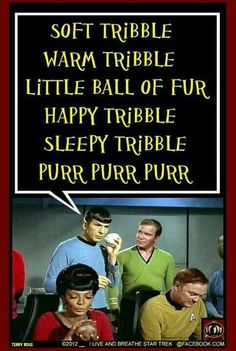 Tribbles! Star Trek humor...